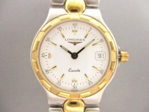 LONGINES(ロンジン) 腕時計美品  コンクエスト L1.114.3 レディース 白