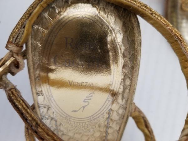 レネカオヴィラ サンダル 35 レディース ゴールド×クリア レザー×化学繊維