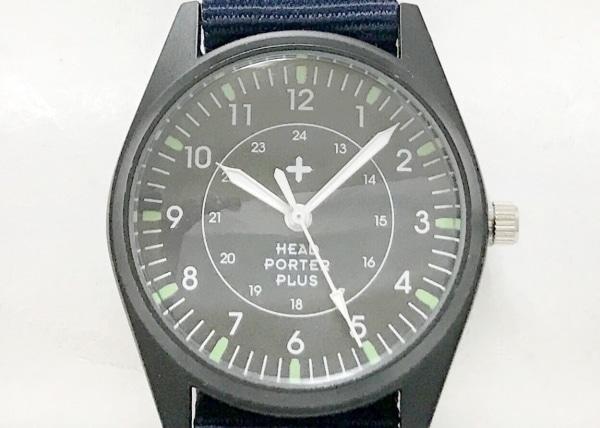 HEADPORTERPLUS(ヘッドポータープラス) 腕時計美品  - ボーイズ 黒