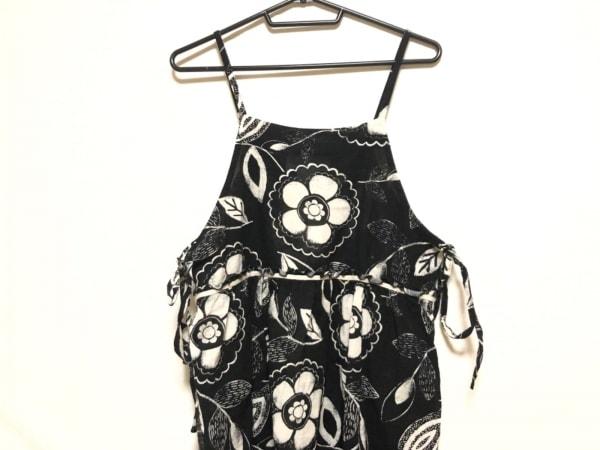 Si-Si-Si(スースースー) ワンピース レディース 黒×アイボリー 花柄/comfort