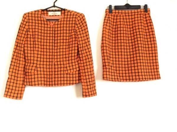 カールラガーフェルド スカートスーツ サイズ38 M レディース オレンジ×黒