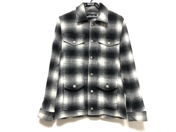 ジャックローズ コート サイズ3 L レディース美品  黒×グレー×アイボリー 冬物