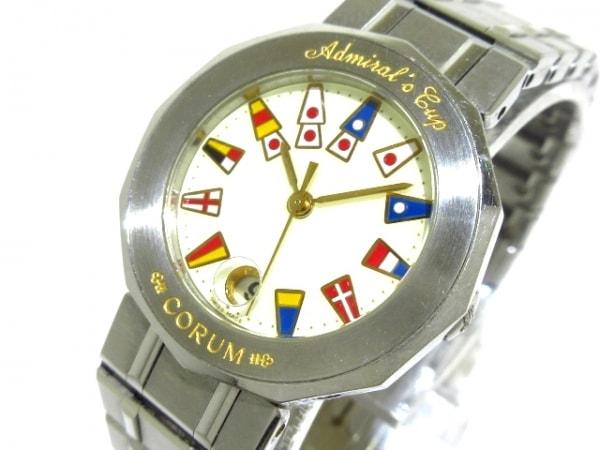 CORUM(コルム) 腕時計 アドミラルズカップ 39.610.20V50B レディース アイボリー