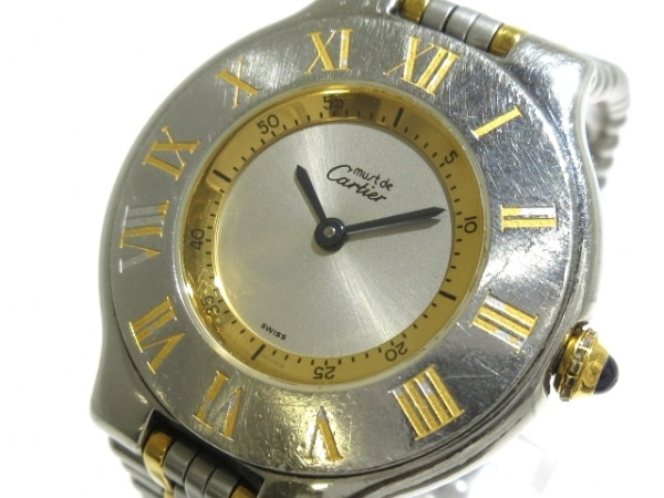 Cartier(カルティエ) 腕時計 マスト21LM W10072R6 メンズ シルバー