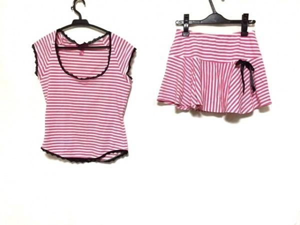 ベッツィージョンソン スカートセットアップ サイズM レディース美品  ピンク×白×黒