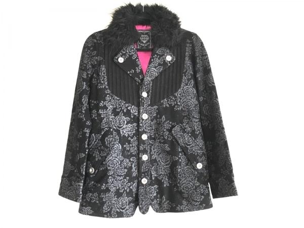 ALGONQUINS(アルゴンキン) コート サイズF レディース美品  黒×ライトグレー 冬物