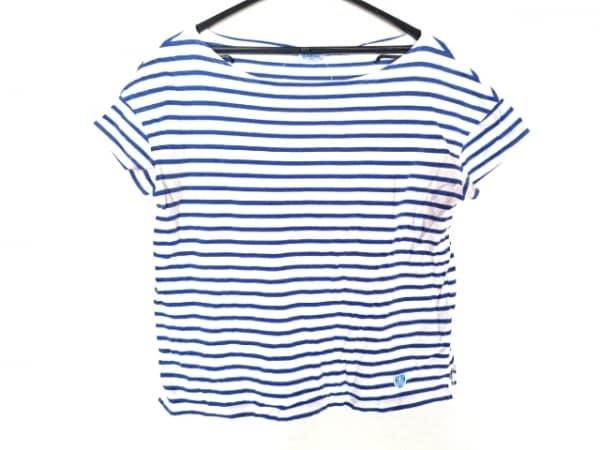 ORCIVAL(オーシバル) 半袖Tシャツ サイズF  F レディース 白×ブルー ボーダー