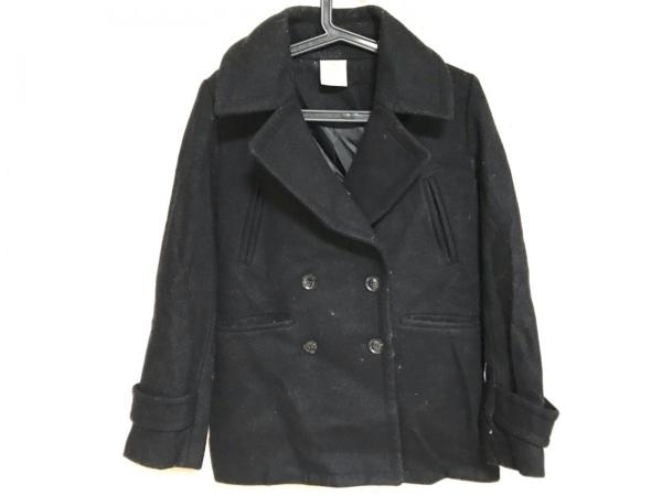 Le souk(ルスーク) Pコート サイズ38 M レディース 黒 冬物/エポーレット