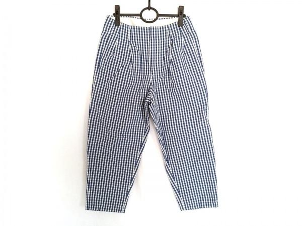 SCYE(サイ) パンツ サイズ36 S レディース ネイビー×白 チェック柄