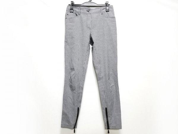 エルマノシェルビーノ パンツ サイズ38 M レディース美品  アイボリー×グレー×黒