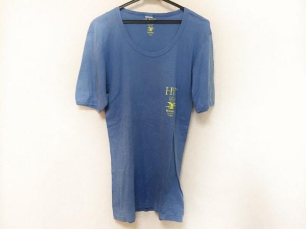 トーガ・オッズ&エンズ 半袖Tシャツ サイズ1 S メンズ ブルー×イエロー HOST80'S TEE