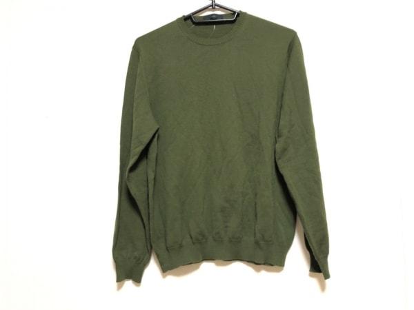 ZANONE(ザノーネ) 長袖セーター サイズ48 XL メンズ ダークグリーン
