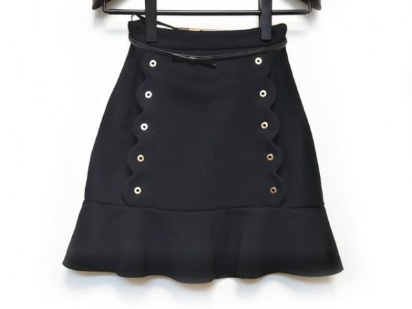 ELISABETTA FRANCHI(エリザベッタフランキ) スカート サイズ38 M レディース 黒
