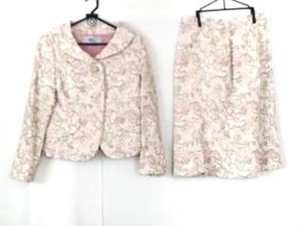 ignes(イグネス) スカートスーツ サイズ42 L レディース アイボリー×ピンク×マルチ