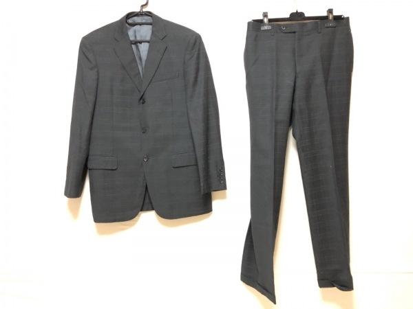 ヒッキーフリーマン シングルスーツ サイズ40S 6DR メンズ ダークグレー