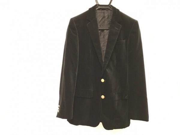コムサコレクション ジャケット サイズM メンズ美品  黒 ベロア/肩パッド