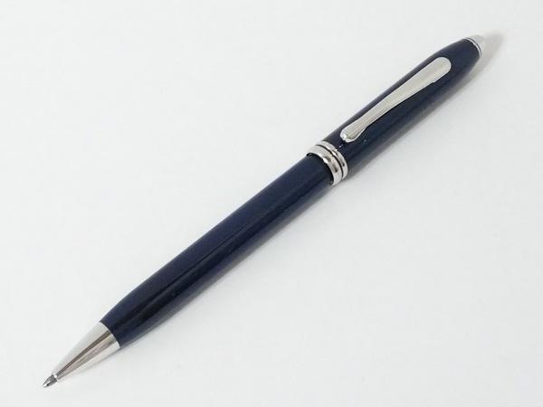 CROSS(クロス.) ボールペン ダークネイビー×シルバー インクあり(黒) 金属素材