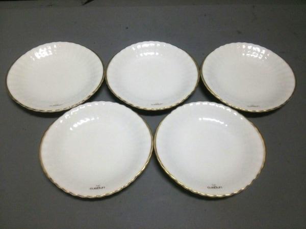 Ungaro(ウンガロ) プレート新品同様  白×ゴールド 五枚セット 陶器