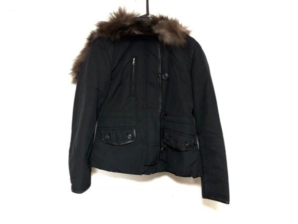 THE GINZA(ザ ギンザ) コート サイズ40 M レディース 黒×ダークブラウン 冬物