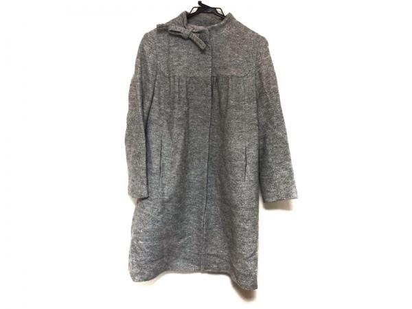 THE GINZA(ザ ギンザ) コート サイズ40 M レディース美品  グレー 冬物/リボン