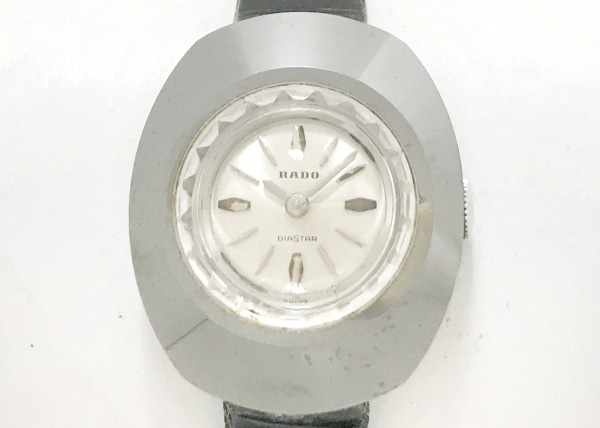 RADO(ラドー) 腕時計美品  - レディース 型押し革ベルト シャンパンゴールド