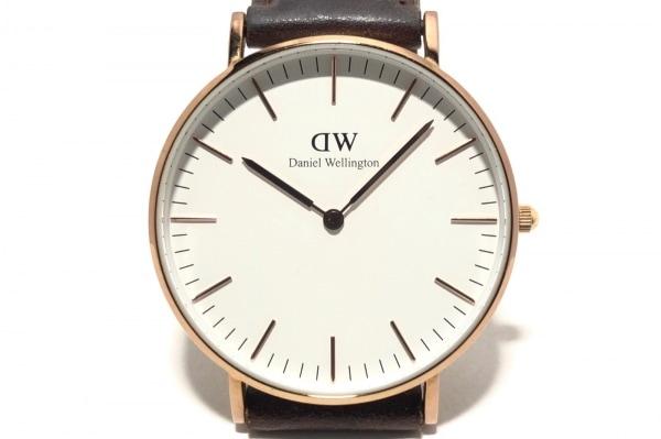 Daniel Wellington(ダニエルウェリントン) 腕時計 - レディース 革ベルト 白