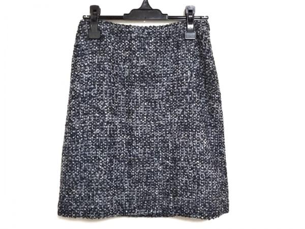 マックスマーラスタジオ スカート サイズ38 M レディース 黒×グレー×マルチ