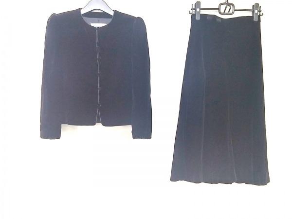 LANCETTI(ランチェッティ) スカートスーツ サイズ40 M レディース 黒 ベロア
