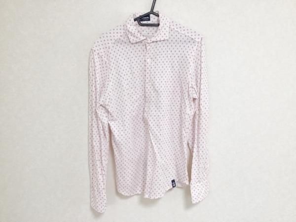 Drumohr(ドルモア) 長袖シャツ サイズS  S メンズ 白×ピンク