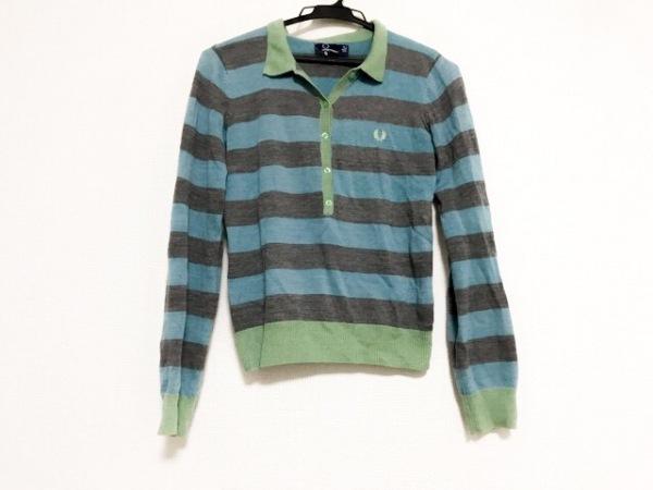 フレッドペリー 長袖ポロシャツ サイズ36 M レディース美品  ニット/ボーダー