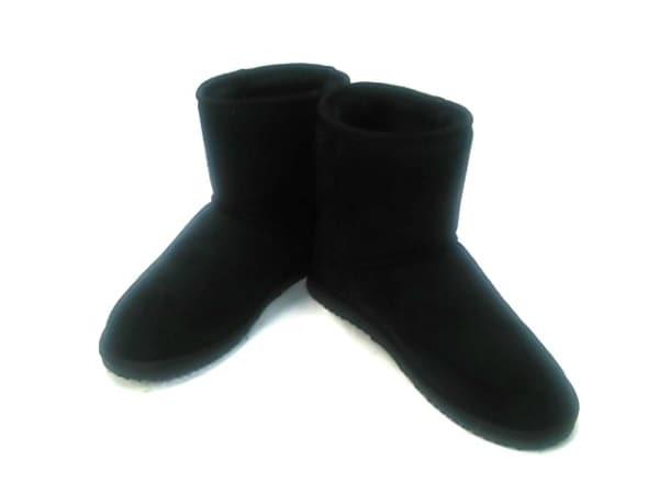 ALPHA CUBIC(アルファキュービック) ショートブーツ LL レディース 黒 化学繊維