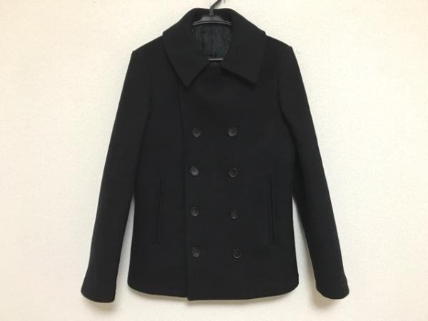 LITHIUMHOMME(リチウムオム) Pコート サイズ46 XL メンズ 黒 冬物