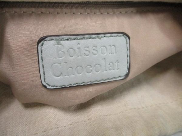 Boisson Chocolat(ボアソン ショコラ) ハンドバッグ ライトブルー レザー
