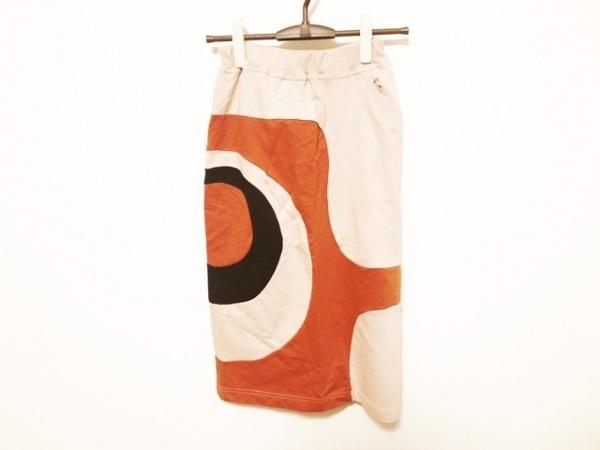 YOKANG(ヨーカン) ロングスカート レディース美品  ピンク×オレンジ×黒