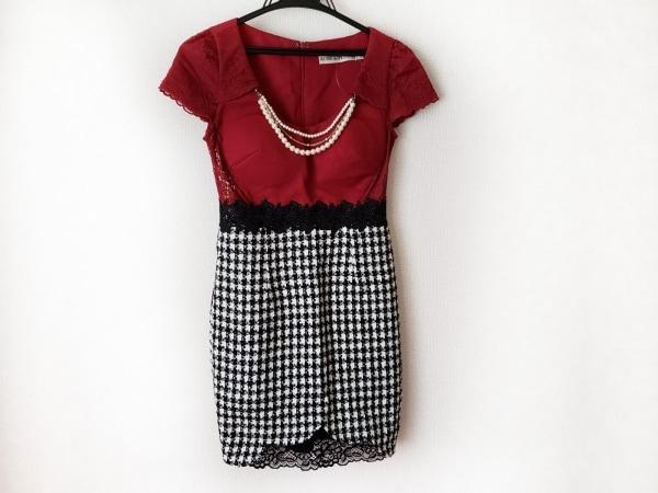 ローブドフルール ドレス サイズS レディース美品  レッド×黒×アイボリー