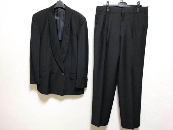 VISARUNO(ビサルノ) シングルスーツ サイズLL メンズ美品  黒 刺繍