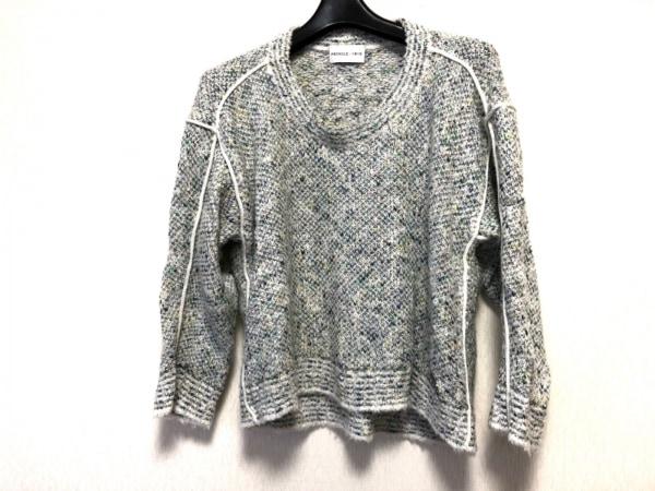 プリングル 長袖セーター サイズUK 10 レディース 白×グリーン×イエロー