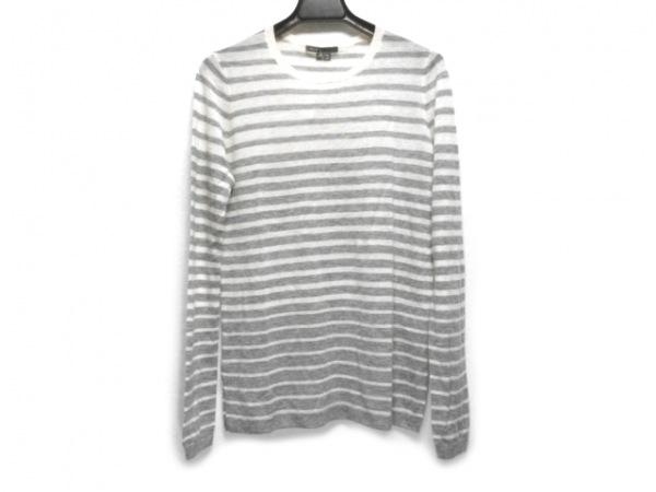 VINCE(ヴィンス) 長袖セーター サイズXS レディース 白×グレー ボーダー