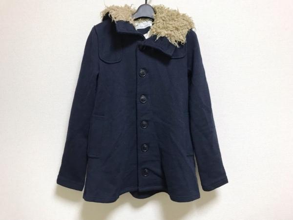 sunao kuwahara(スナオクワハラ) コート レディース美品  ダークネイビー 冬物/ニット