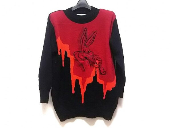 ICEBERG(アイスバーグ) 長袖セーター サイズ40 M レディース美品  黒×レッド