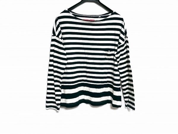 ミュベールワーク 長袖Tシャツ サイズ38 M レディース美品  黒×白 ボーダー