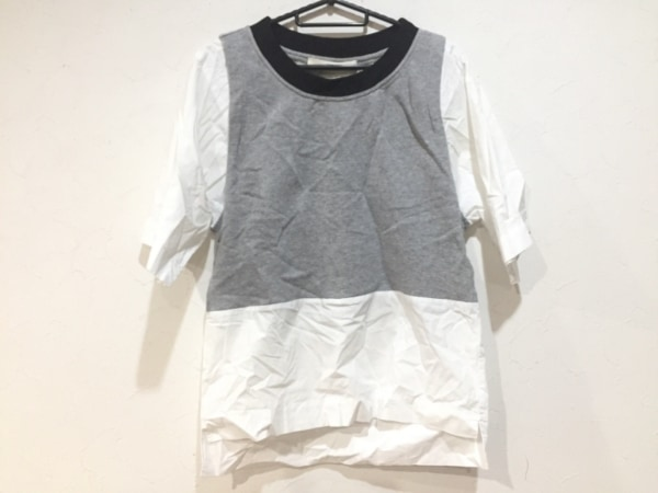 TELA(テラ) 半袖カットソー サイズXS レディース美品  グレー×白×黒