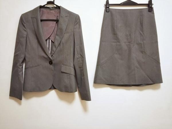 ru(アールユー) スカートスーツ サイズ2 M レディース美品  グレー×ピンク