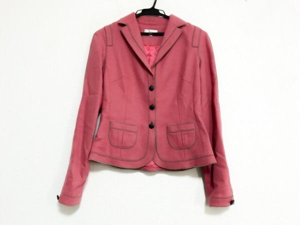 PAULEKA(ポールカ) ジャケット サイズ36 S レディース美品  ピンク×ダークブラウン