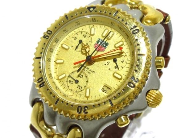 タグホイヤー 腕時計 プロフェッショナル200 CG1121-0 メンズ 革ベルト/クロノグラフ