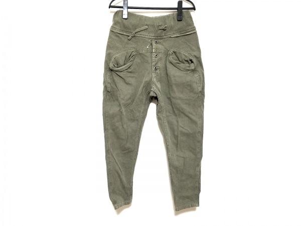 KAPITAL(キャピタル) パンツ サイズXS レディース カーキ ゴムウエスト