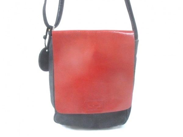 PICARD(ピカード) ショルダーバッグ 黒×ブラウン ヌバック×レザー
