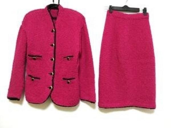 MELROSE(メルローズ) スカートスーツ レディース美品  ピンク×黒