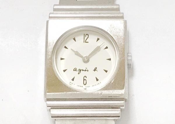 agnes b(アニエスベー) 腕時計 W400-0670 レディース アイボリー