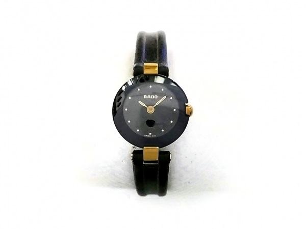 RADO(ラドー) 腕時計 204.4079.4N レディース 革ベルト 黒